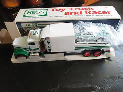 Hess 1991 Toy Truck and Racer Still in Box