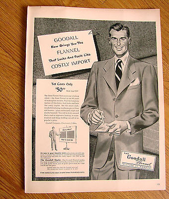 1948 The Goodall Flannel Ad  Men's Fashion Palm Beach Suit
