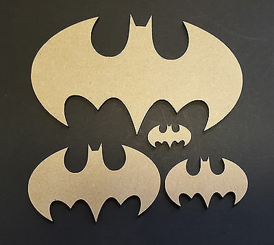 Bat Sign MDF Craft shape weddings stag party special occaision kids party