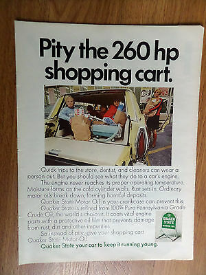 1968 Quaker State Oil Ad  Ford Country Squire Station Wagon