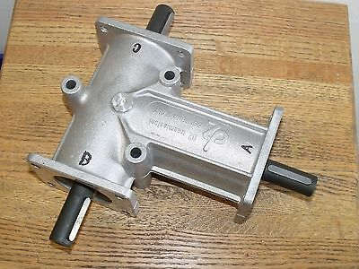 DZ trasmissioni Size 3 Right angle bevel 3 Flange Aluminum gearbox 3 20mm Shaft