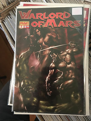 WARLORD OF MARS #1 NM- 1st Print LUCIO PARRILLO VARIANT Dynamite comic
