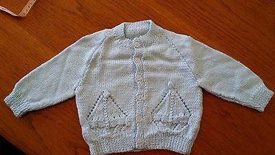 BABY BOY'S CARDIGAN HAND KNITTED with LOVE.