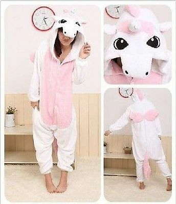 Unisex Adult Kigurumi Pajamas Anime Cosplay Costume  Sleepwear Unicorn
