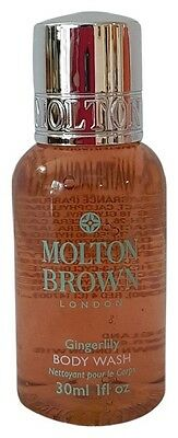 3 X Molton Brown London Gingerlily Bath & Shower Body Gel Deluxe Travel Samples