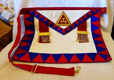 Masonic Royal Arch Supreme Grand apron with rear pocket