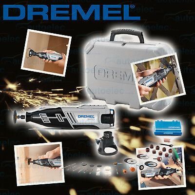 Dremel 8200 Variable Cordless Lithium Battery Rotary Tool + 34 Accessory Kit New