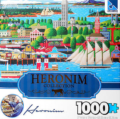 Heronim 1000 pc puzzle~SEATTLE   COMPLETE!