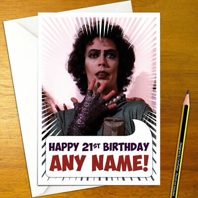 Dr Frank N Furter Personalised Birthday Card A5 The Rocky Horror