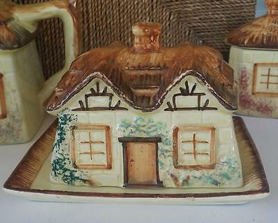 Authentic Antique KEELE ST. POTTERY Co.  Cottage Butter Cheese Dish with Lid