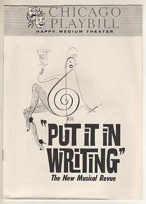 "Jo Anne Worley  ""Put It In Writing""  Chicago Playbill 1963  Hirschfeld Cover"