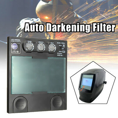 1PC Solar Auto Darkening View 4 Arc Auto Sensor Helmet Lens TIG MIG  Filter Mask