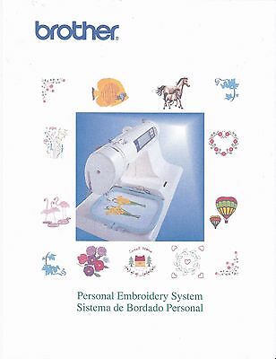 BROTHER PE-180D Embroidery Owners Manual on CD in Color