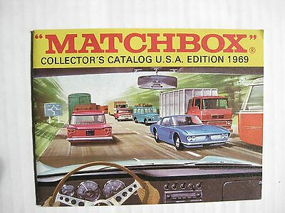Matchbox Lesney 1969 Collector's Catalog 1st Edition - Near Mint Condition
