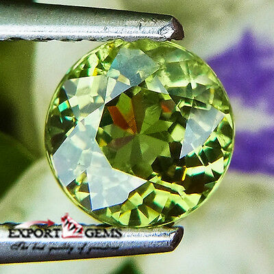 0.96Ct Awesome Horsetail Green Natural Demantoid Round