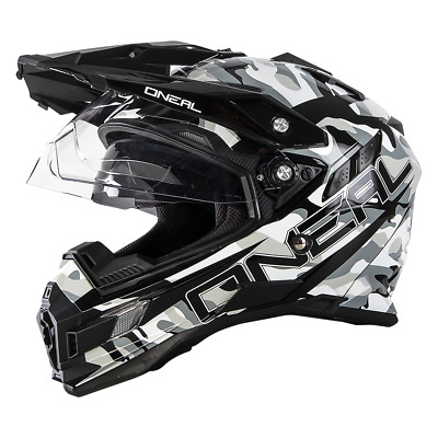 Oneal 2018 Sierra Dual Sport Helmet Sniper Black/White Motocross Mx Dirt Bike
