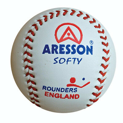 Aresson Baseball Sports Training & Practice Softy Rounders Junior Ball White