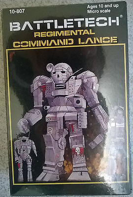 Ral Partha Battletech 10-807 Regimental Command Lance Zeus,Oscout,Cyclops,Atlas