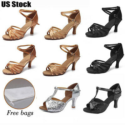 Brand New Ballroom heeled Latin Dance Shoes for Women/Ladies/Girls/Tango&SalsaUS
