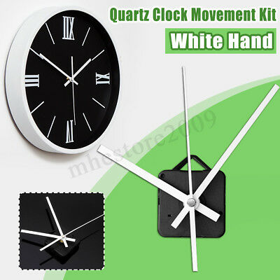 DIY Quartz Clock Movement Spindle Mechanism Parts Tool Silent Long White Hands