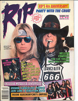 RIP Magazine December 1990	 Motley Crue Judas Priest Doro Pesch Black Crowes