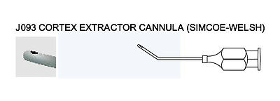 O1154 CORTEX EXTRACTOR CANNULA SIMCOE-WELSH Ophthalmic Instrument Cannulae UMI