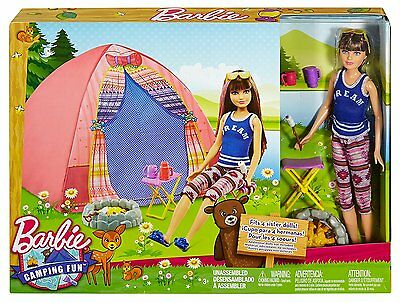 NEW Barbie Sisters Camping Skipper and Tent Including Doll
