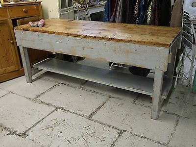 Industrial dining table kitchen island with removable undertier