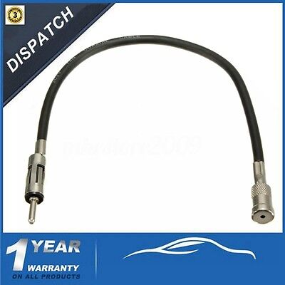 CAR ISO to DIN MALE AERIAL RADIO STEREO ANTENNA EXTENSION CABLE ADAPTOR AAN2102