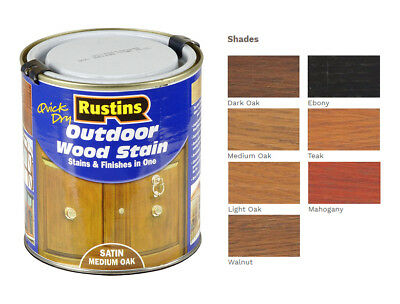 Rustins Quick Dry Outdoor Wood Stain Available In 250ml & 500ml Tins