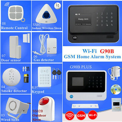 Haus Alarmanlage Funk Alarmsystem GSM Wireless Telefon Sicherheit Set