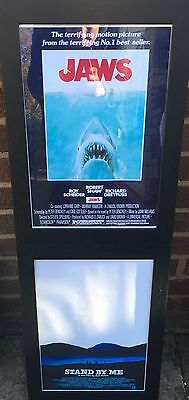 Framed Jaws A3 Movie Poster