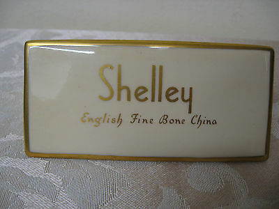 Rare original tent Shelley China display shop sign 1938-1966 advertising plaque