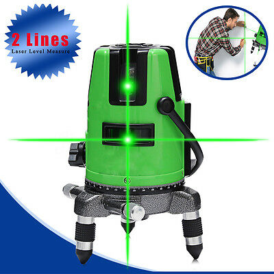 Outdoor 3D Green 2 Line Laser Level 360° Self-leveling Vertical & Horizontal AU
