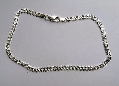 10 inch 25cm 3.5mm Sterling Silver curb link Anklet 5.9g