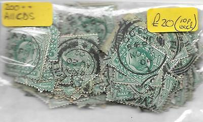 ½d Edward VII selection of USED stamps - 200+ stamps all with CDS