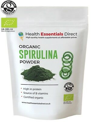 Organic Spirulina Powder (Detox, Immune System Booster, B Vitamins) Choose Size: