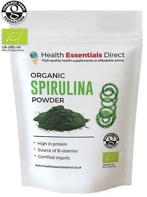 Organic Spirulina Powder (Superior 65% + Protein, B Vitamins) Choose Size: