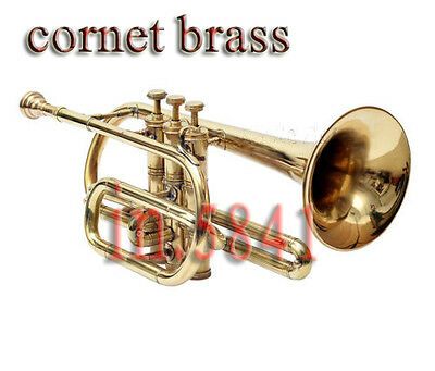 Buy  Awesome*** Cornet-Brass.finish B Flat Nice Look&sound With Case_Mp,mute