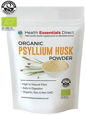 Organic Psyllium Husk Powder (IBS - Natural Soluble Fibre) 500g