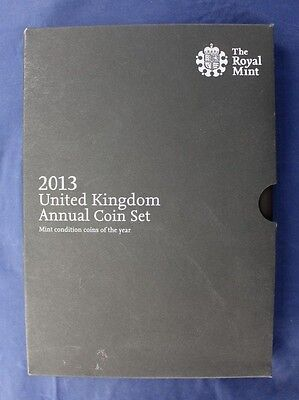 2013 Royal Mint 15 coin Annual Uncirculated set in Folder   (A10/1)