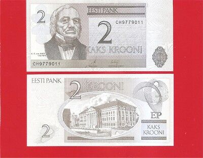 ESTONIA p85b - 2 krooni 2007 Uncirculated