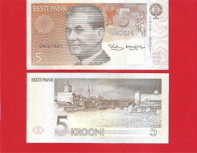 ESTONIA p76a - 5 krooni 1994 Uncirculated