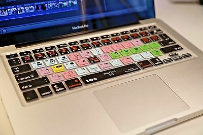 Final Cut Pro X 10 Silicone Keyboard Cover Skin for iMac, Macbook Air 13 ,Pro13