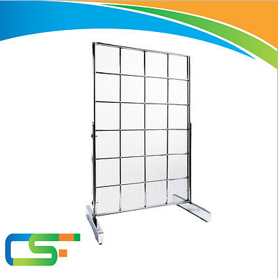 "SMALL COUNTER-TOP 12"" x 18"" GRIDWALL MESH CHROME DISPLAY PANEL"