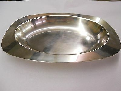 Christofle Silver Plated Serving Dish Modern Sleek Style No Monogram