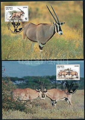 Eritrea stamp 1996 WWF: Gazella on 4 CM Mi 87-90 (A208)