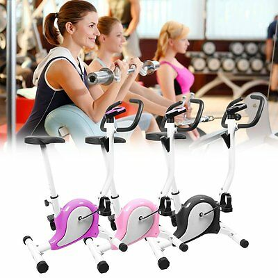 Exercise Bike Gym Magnetic Trainer Cardio Fitness Workout Folding Machine AY