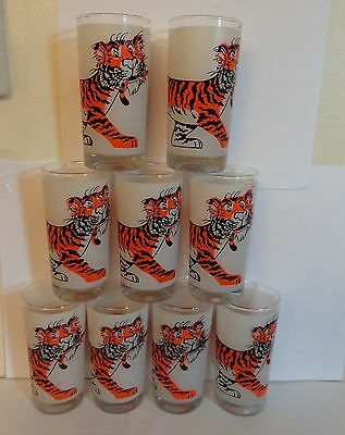ESSO Put A Tiger In Your Tank PITCHER AND 9 GLASSES EXXON