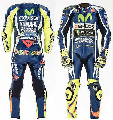Rossi 2017 Motorbike/Motorcycle Racing Leather 1&2 Piece Suit/Jacket-Trouser